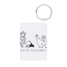 Sick of Stick People Camp Fire Keychains