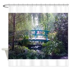 Monet Bridge Horizontal Shower Curtain