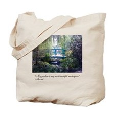 Monet Bridge Horizontal Tote Bag