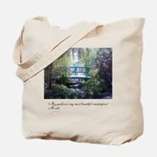 Monet Bridge Horizontal Tote Bag