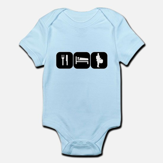 Eat Sleep Drumline Infant Bodysuit