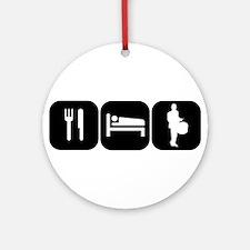 Eat Sleep Drumline Ornament (Round)