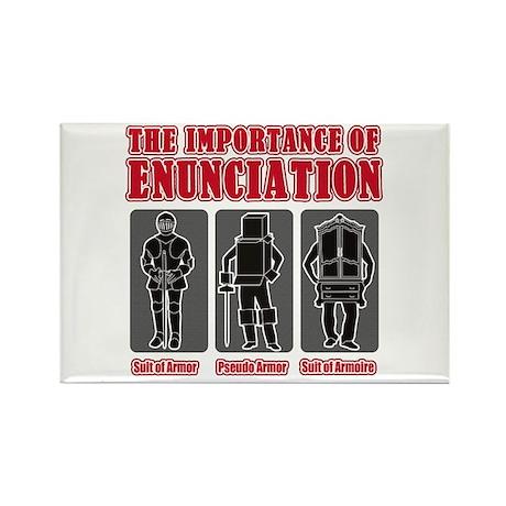 Enunciation Rectangle Magnet (100 pack)