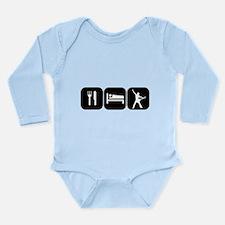 Eat Sleep Rock Long Sleeve Infant Bodysuit