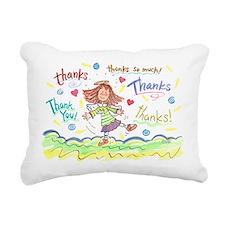 Dancing Angel Thanks Rectangular Canvas Pillow