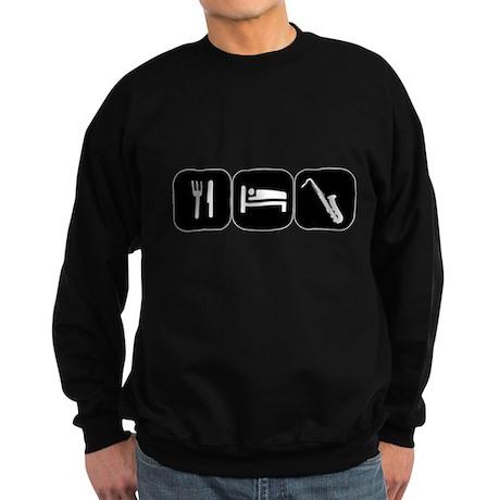 Eat Sleep Saxophone Sweatshirt (dark)
