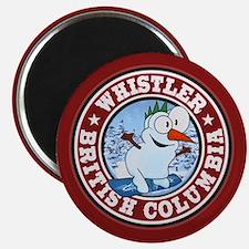 Whistler Snowman Circle Magnet