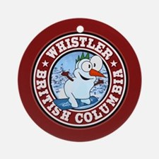 Whistler Snowman Circle Ornament (Round)