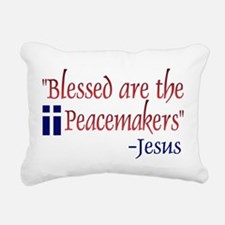 """Rectangular Canvas Pillow - """"Blessed Are the Peace"""