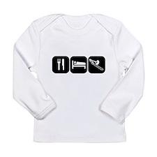 Eat Sleep Trombone Long Sleeve Infant T-Shirt