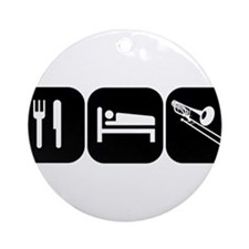 Eat Sleep Trombone Ornament (Round)