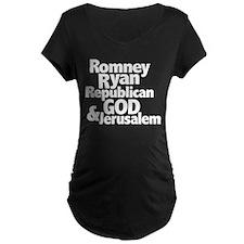 Romney Ryan Republican GOD Jerusalem T-Shirt