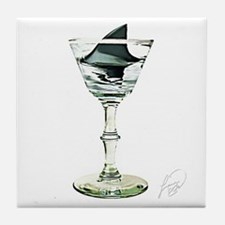 SHARK FIN MARTINI * Tile Coaster
