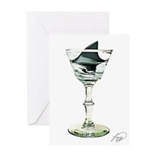 SHARK FIN MARTINI___ Greeting Card