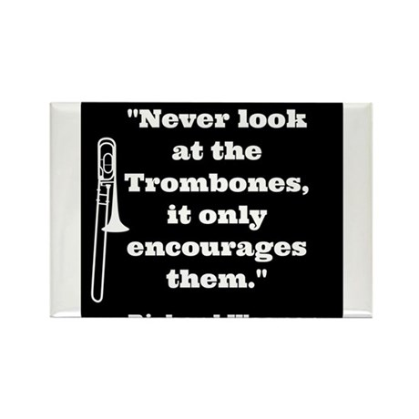 Trombone Wagner quote Rectangle Magnet