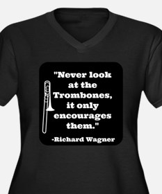 Trombone Wagner quote Women's Plus Size V-Neck Dar