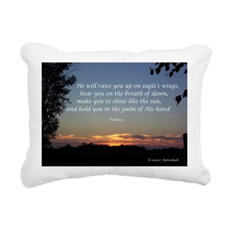 On Eagle's Wings...Psalm 91 Rectangular Canvas Pil