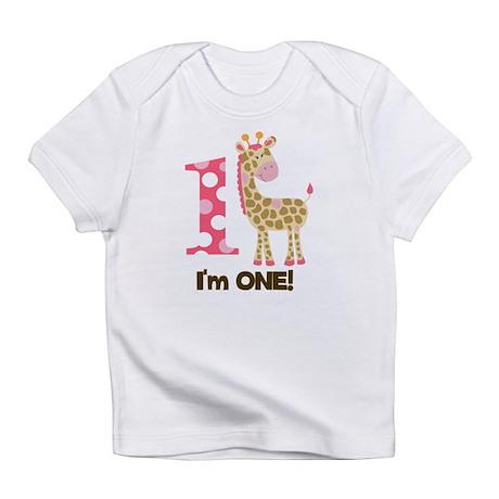 Im one Pink Giraffe Infant T-Shirt