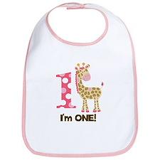 Im one Pink Giraffe Bib