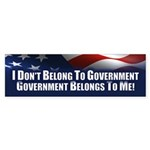 I Don't Belong To Government Sticker (Bumper)