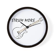 Strum More Wall Clock