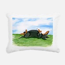 Happy Doxie (B&T) Rectangular Canvas Pillow