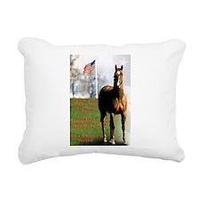 Save America's Horses Rectangular Canvas Pillow
