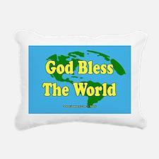 God Bless The World Rectangular Canvas Pillow
