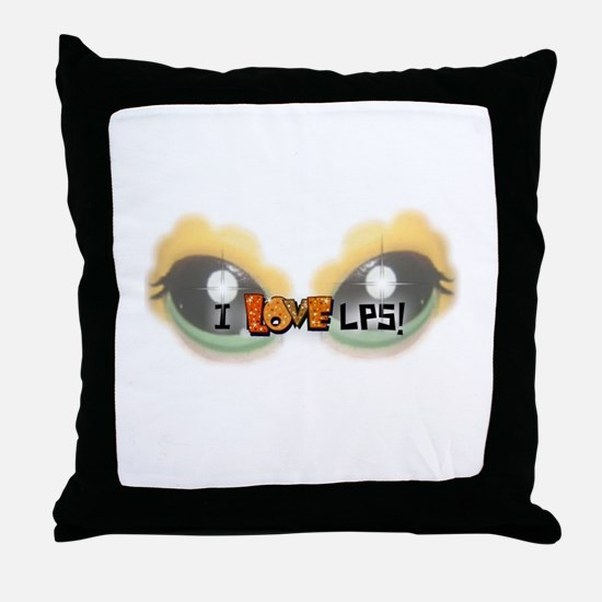 I LOVE LPS! Orange Throw Pillow