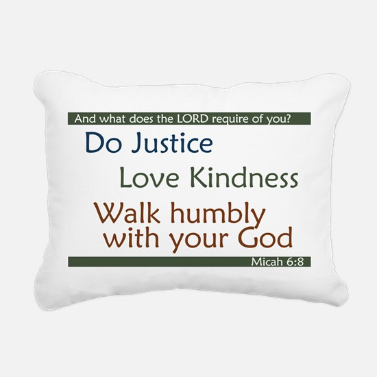 Micah 6:8 Rectangular Canvas Pillow