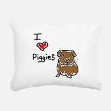 I love Piggies Rectangular Canvas Pillow