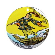 """The Fool Tarot Card"" Ornament (Round)"