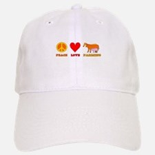 Peace Love Farming Baseball Baseball Cap