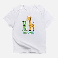 Giraffe Im One First Birthday Infant T-Shirt