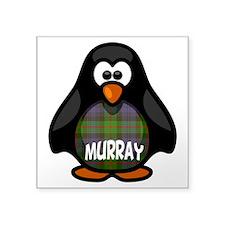 "Murray Tartan Penguin Square Sticker 3"" x 3"""