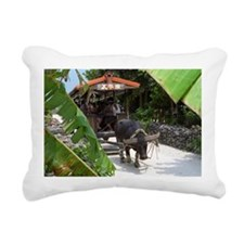 Taketomi Buffalo 1 Rectangular Canvas Pillow