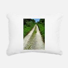 Taketomi Dirt Road Rectangular Canvas Pillow