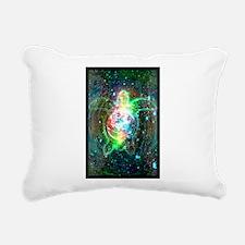 Cosmic Turtle Rectangular Canvas Pillow