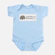 weimaraner Infant Bodysuit