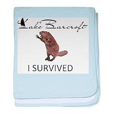 Lake Barcroft - I SURVIVED baby blanket