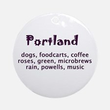 portland Oregon Ornament (Round)
