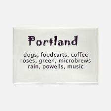 portland Oregon Rectangle Magnet