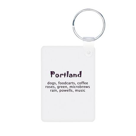portland Oregon Aluminum Photo Keychain