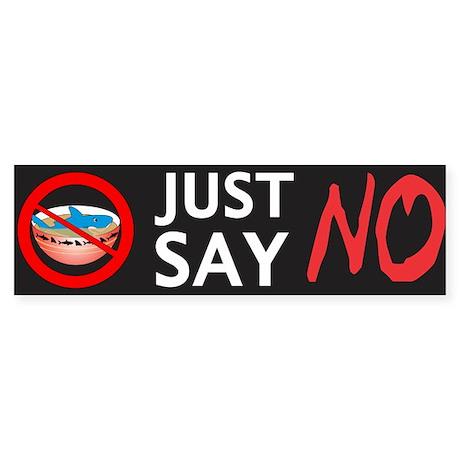 Just Say NO Sticker (Bumper)