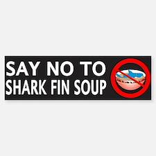 Say NO To Shark Fin Soup Bumper Bumper Sticker