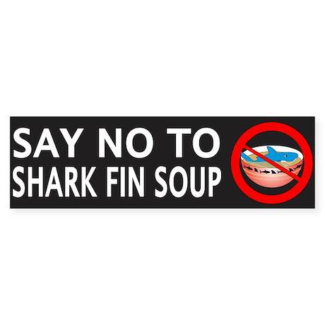 Say NO To Shark Fin Soup Sticker (Bumper)