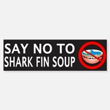 Say NO To Shark Fin Soup Sticker (Bumper)