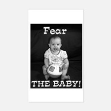 The Crazy Baby Rectangle Decal