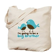 Blue Birds Im going to be a big brother Tote Bag