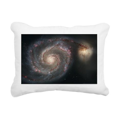Whirlpool Galaxy Rectangular Canvas Pillow